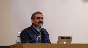 عکس/سخنرانی امیر نریمانی درباره تجربههای شکلگیری یک نمایشگاه عکس تلگرامی